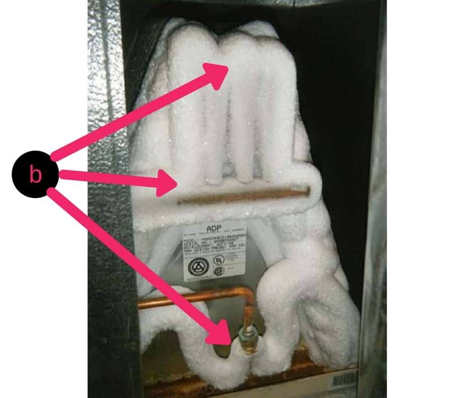 Frozen Air Conditioner Pipes