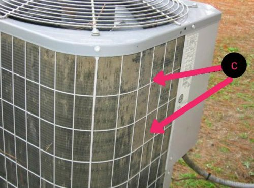 Dirty Air Conditioner Fins